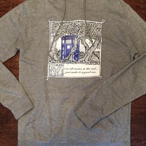 Light heather gray Dr. Who stories sweatshirt